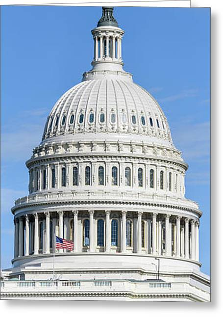 Low Angle View Of Capitol Building Greeting Card