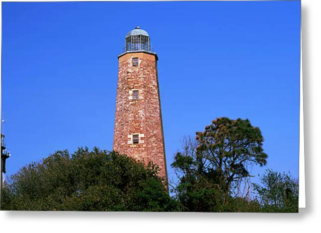 Low Angle View Of Lighthouse, Cape Greeting Card by Panoramic Images