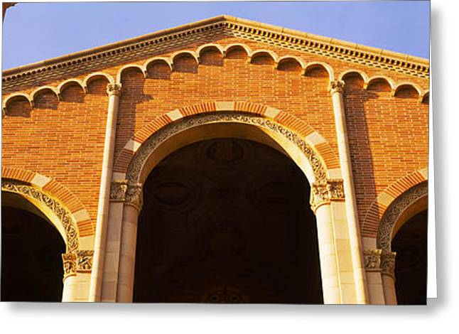 Low Angle View Of Royce Hall Greeting Card by Panoramic Images