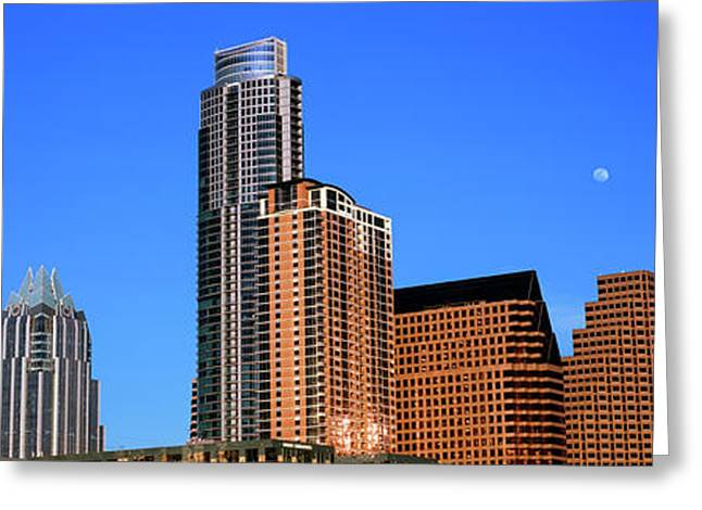 Low Angle View Of Skyscrapers, Austin Greeting Card by Panoramic Images