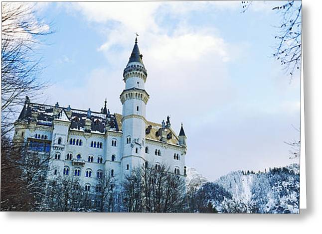 Low Angle View Of The Neuschwanstein Greeting Card