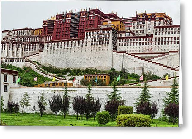 Low Angle View Of The Potala Palace Greeting Card