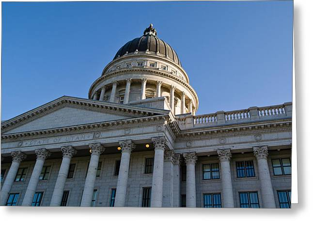 Low Angle View Of The Utah State Greeting Card