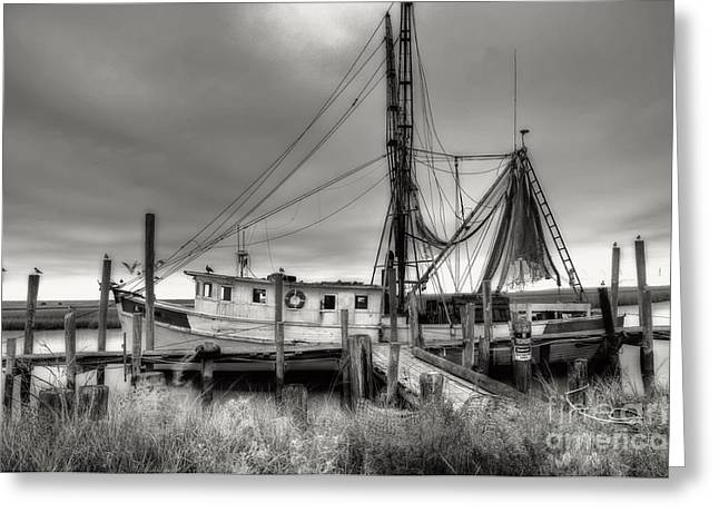 Lowcountry Shrimp Boat Greeting Card by Scott Hansen