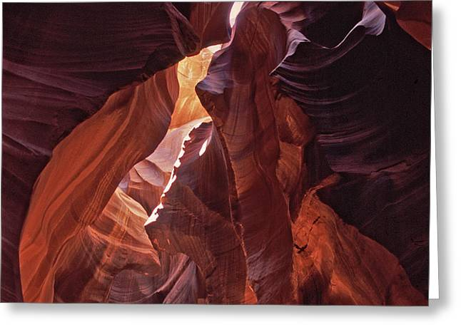 Lower Antelope Canyon Greeting Card by Liz Leyden