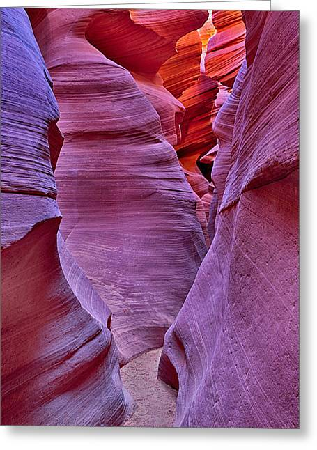 Lower Antelope Canyon Tones And Curves Greeting Card by Robert Jensen