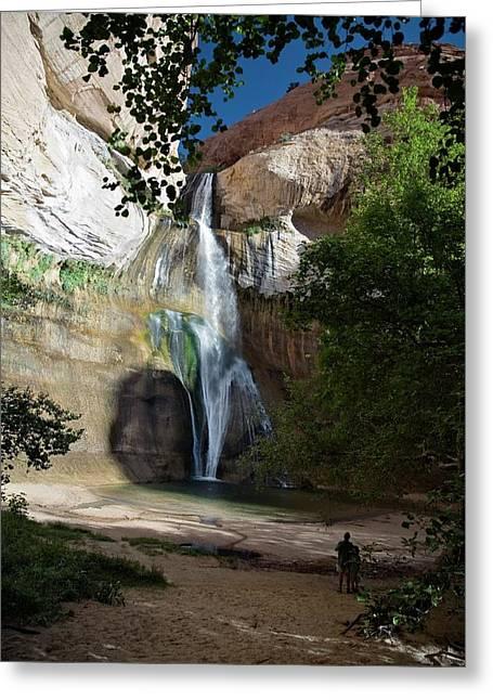 Lower Calf Creek Falls Greeting Card