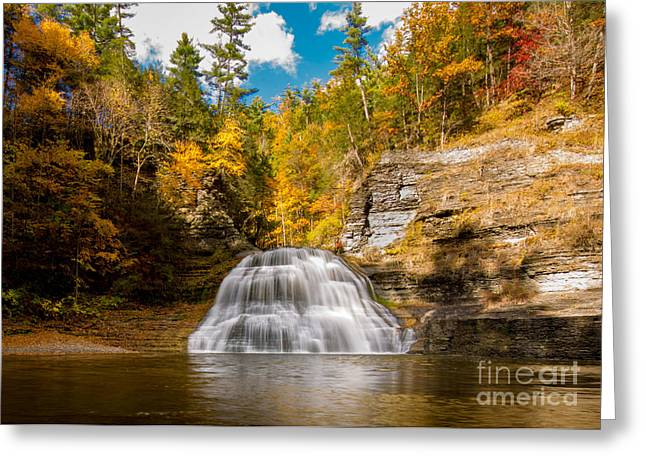 Lower Treman Falls Greeting Card