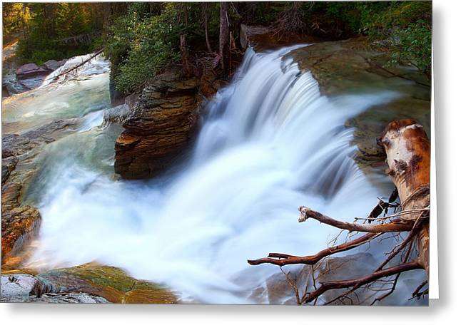 Greeting Card featuring the photograph Lower Virginia Cascades by Aaron Whittemore