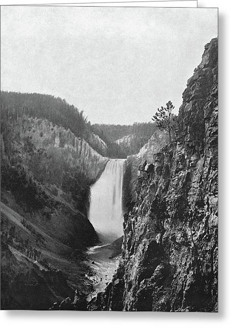Lower Yellowstone Falls Greeting Card by Granger