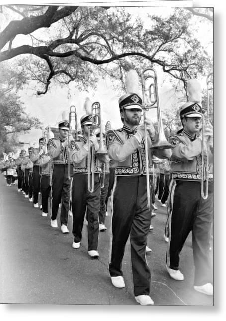 Lsu Marching Band Vignette Greeting Card by Steve Harrington