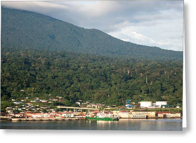 Greeting Card featuring the photograph Luba On Island Of Bioko In Equatorial Guinea by Gregory Daley  PPSA