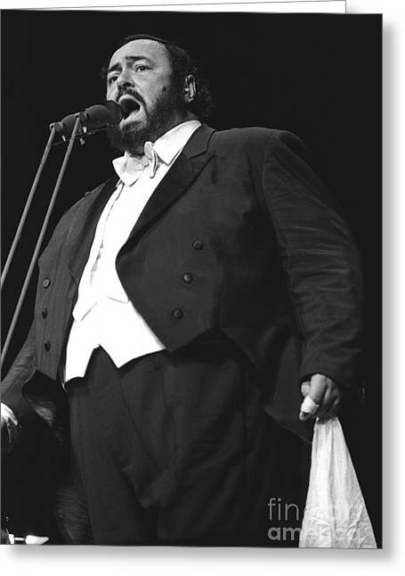 Luciano Pavarotti Greeting Card by Concert Photos