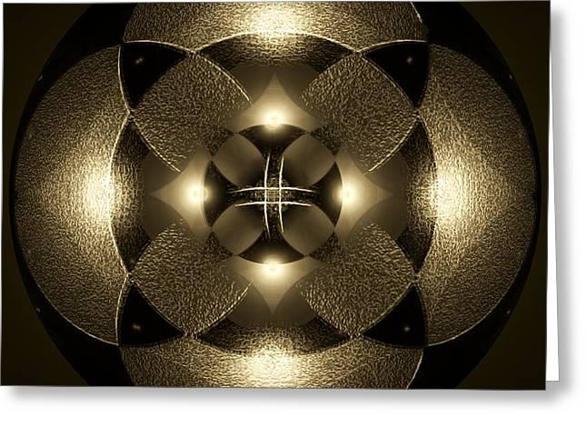 Luminous Mandala Greeting Card
