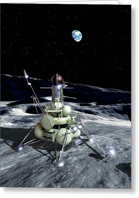 Luna 16 Probe Greeting Card by Detlev Van Ravenswaay