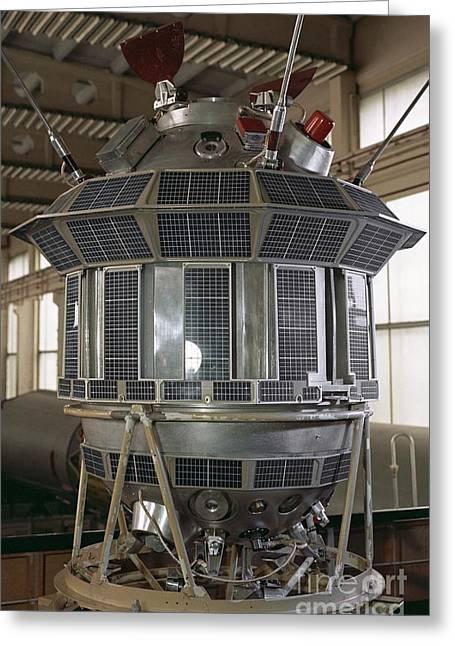 Luna 3 Spacecraft Model Greeting Card