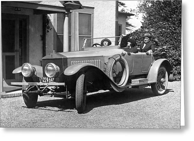Mabel Normand In A Rolls Royce Greeting Card