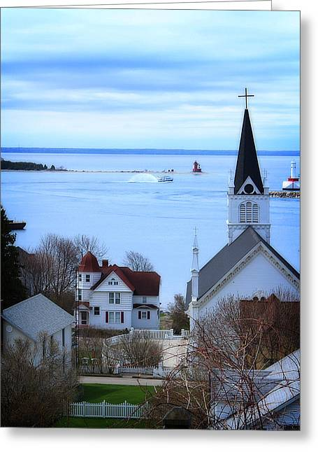 Mackinaw Island Greeting Card by Scott Hovind