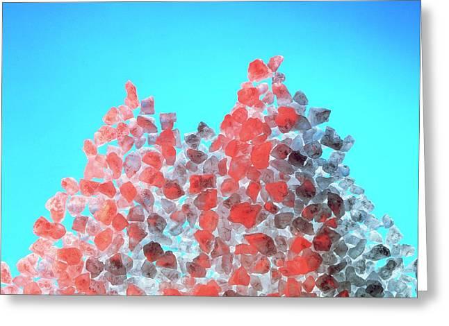 Macrophotograph Of Salt Crystals Greeting Card