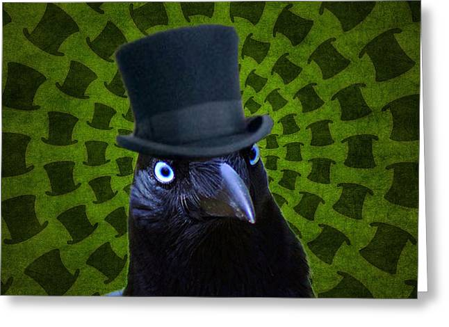 Mad Crow Greeting Card