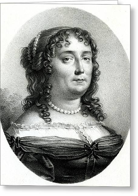 Madeleine De Scudery  French Writer Greeting Card by Mary Evans Picture Library