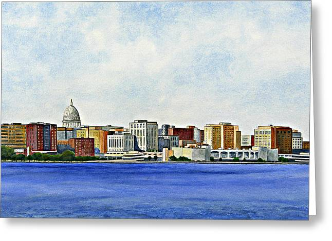 Greeting Card featuring the painting Madison by Thomas Kuchenbecker