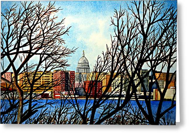 Madison Treed Greeting Card by Thomas Kuchenbecker