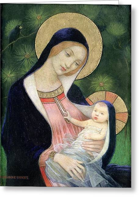 Madonna Of The Fir Tree Greeting Card by MotionAge Designs