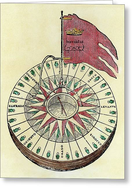 Magellan Compass Greeting Card
