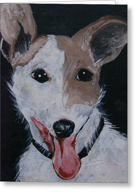Maggie Greeting Card by Leslie Manley