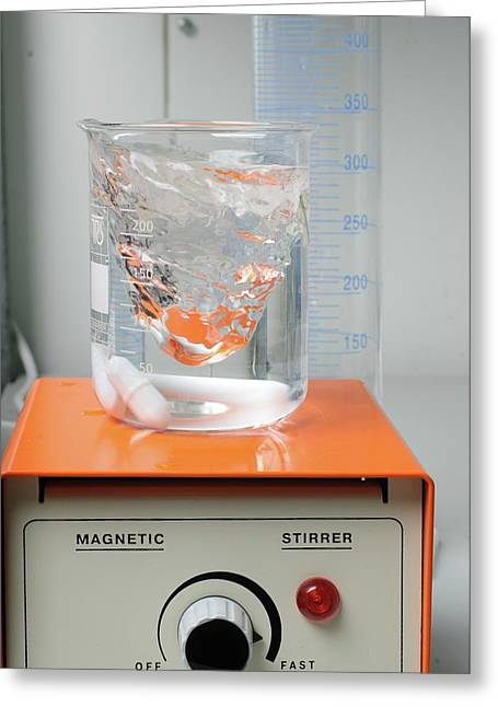 Magnetic Stirrer In A Laborator Greeting Card