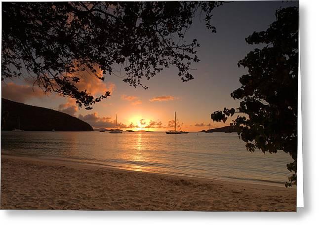 Maho Bay Sunset Greeting Card