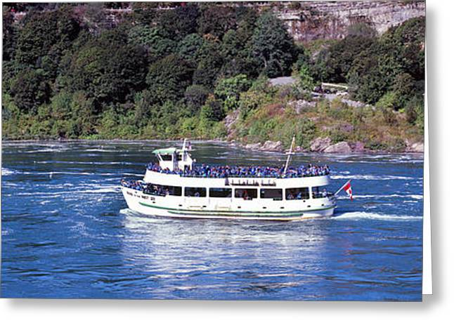 Maid Of The Mist Boat Ride To Falls Greeting Card