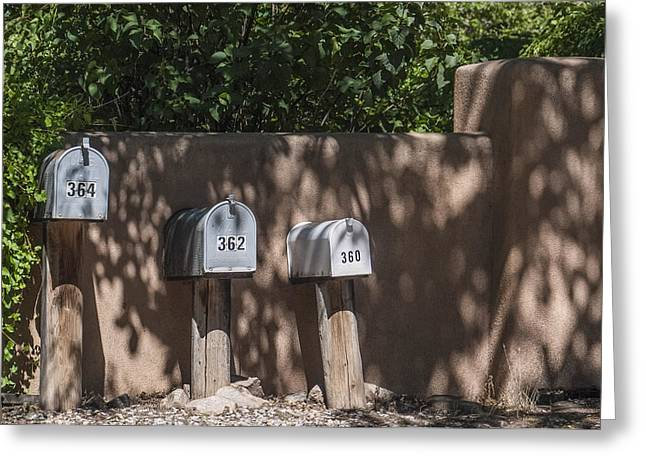 Mailboxes Santa Fe Nm Greeting Card by David Litschel