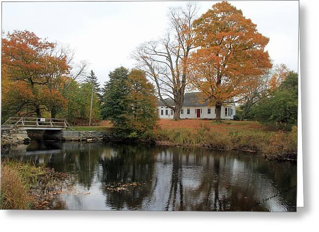 Maine Farmhouse Greeting Card by Becca Brann