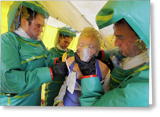 Major Emergency Decontamination Training Greeting Card by Public Health England