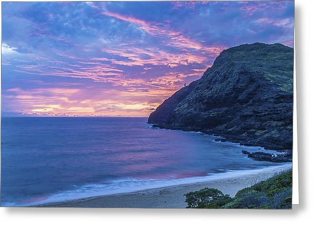 Makapuu Sunrise 2 Greeting Card