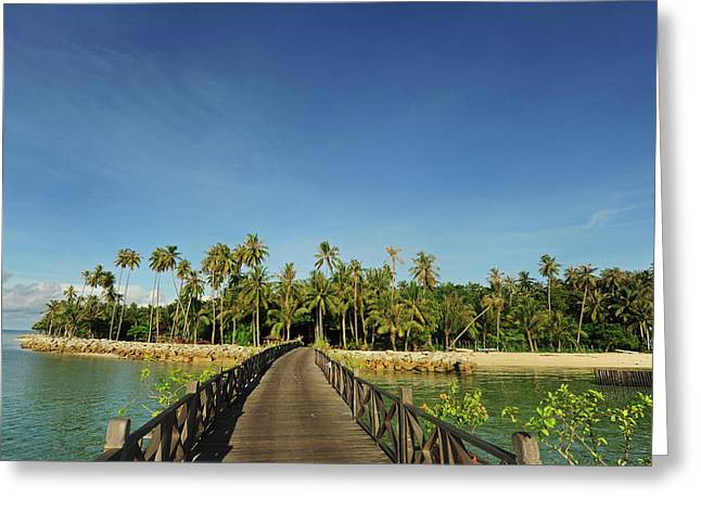 Malaysia, Borneo, Semporna, Mabul Greeting Card by Anthony Asael