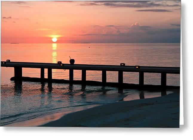 Maldives Morning  Greeting Card by Shirley Mitchell