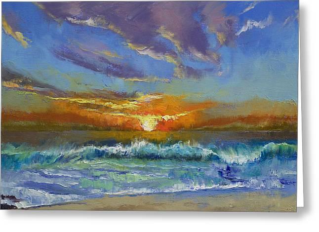 Malibu Beach Sunset Greeting Card