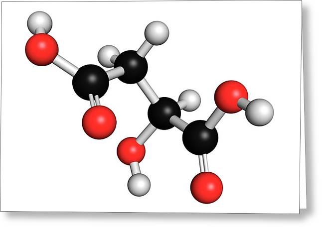 Malic Acid Fruit Acid Molecule Greeting Card