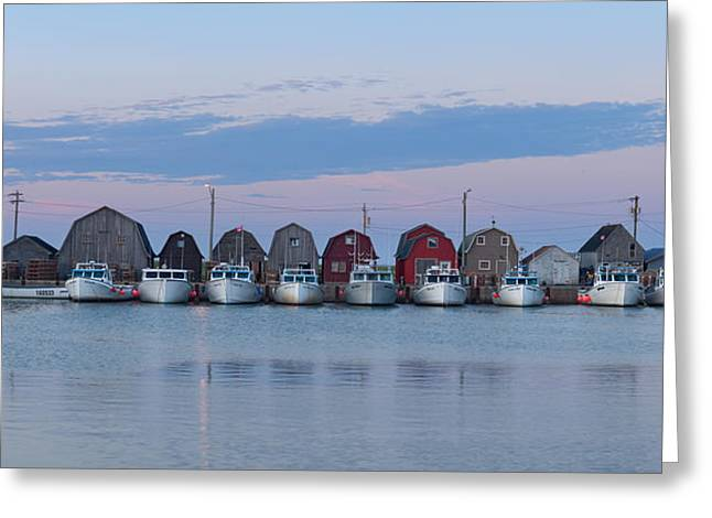 Malpeque Harbour Panorama Greeting Card by Matt Dobson
