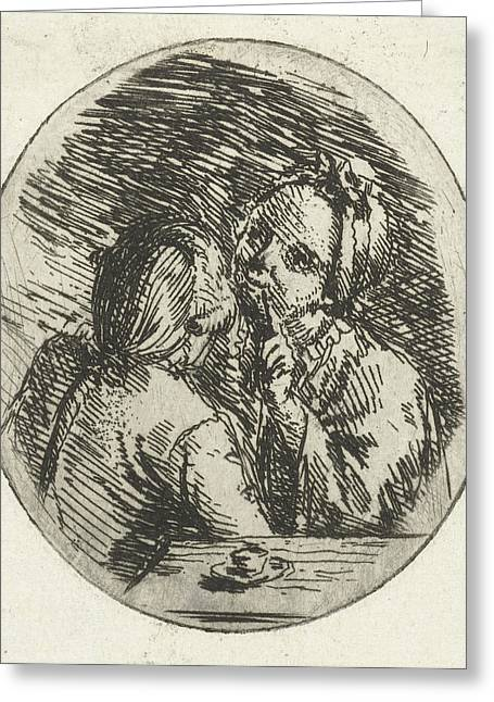 Man And Woman Talking, Louis Bernard Coclers Greeting Card