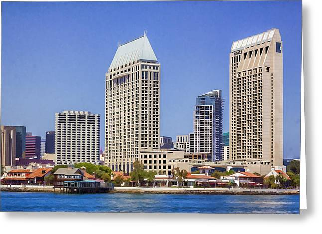 Manchester Grand Hyatt San Diego Greeting Card by Photographic Art by Russel Ray Photos