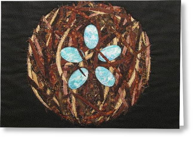 Mandala No 5 Bird's Nest Greeting Card by Lynda K Boardman