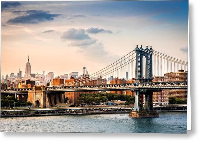 Manhattan Bridge Greeting Card by Mihai Andritoiu