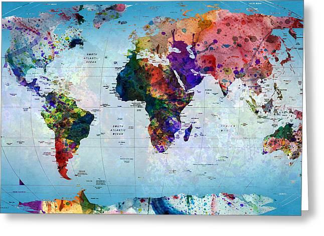 map Greeting Card by Mark Ashkenazi