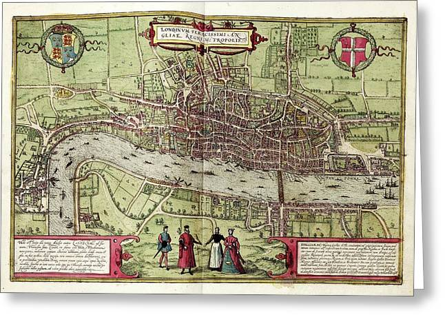Map Of London Greeting Card