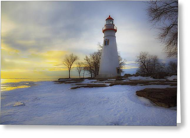Marblehead Lighthouse Lake Erie Greeting Card