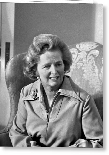 Margaret Thatcher (1925-2013) Greeting Card by Granger